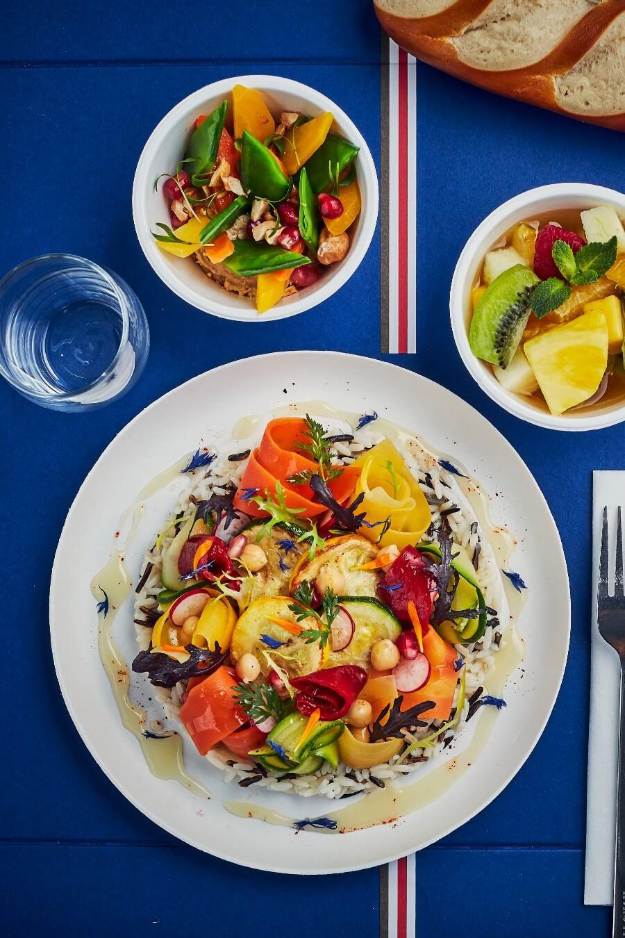 Plateau-repas végétarien