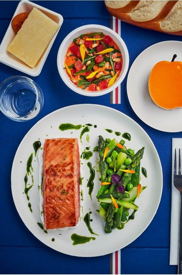 Plateau-repas poisson