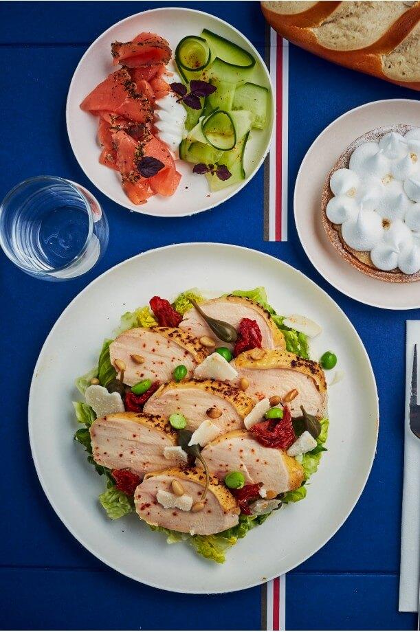 Plateau-repas viande blanche