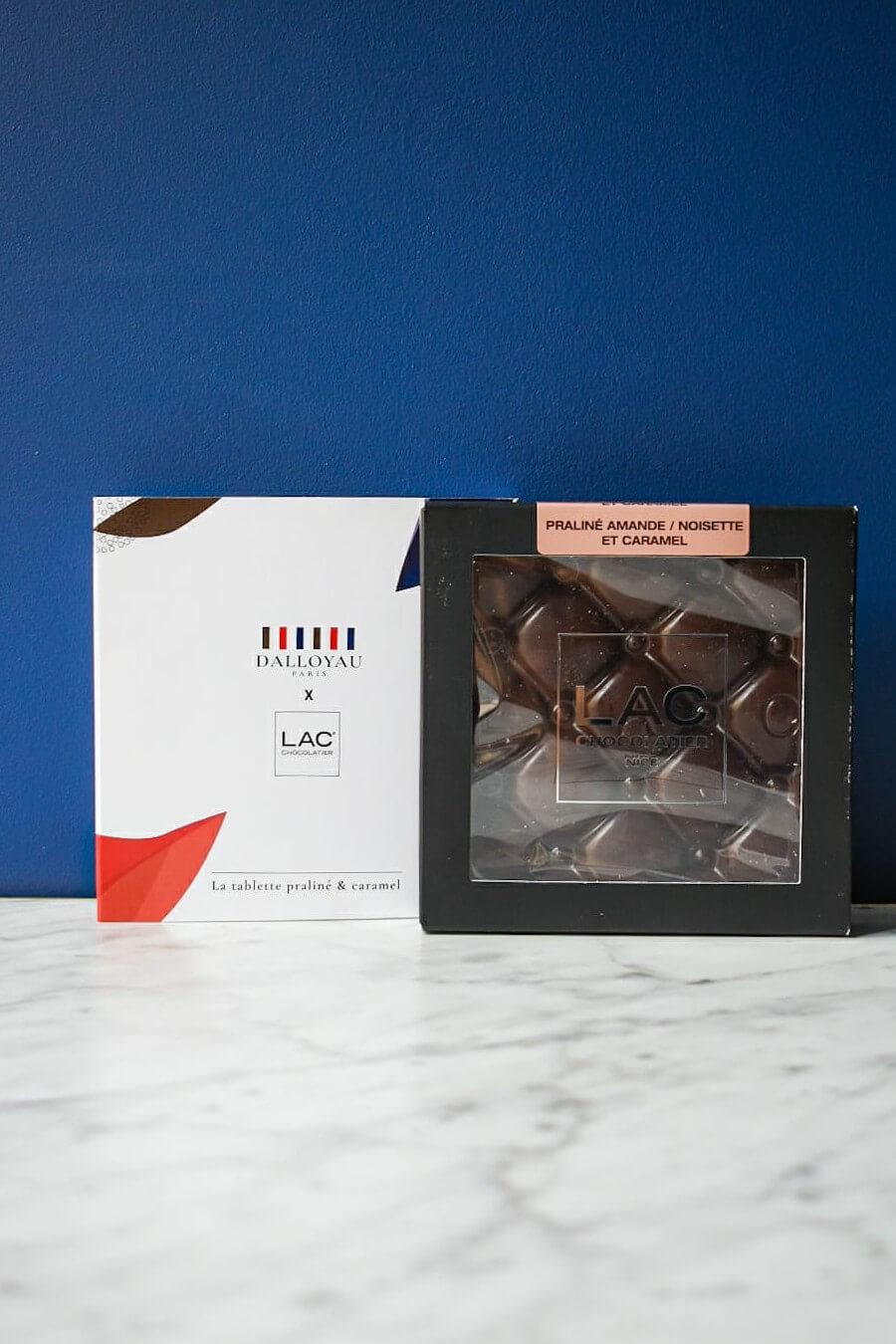 TABLETTE CHOCOLAT CARAMEL PRALINÉ PASCAL LAC