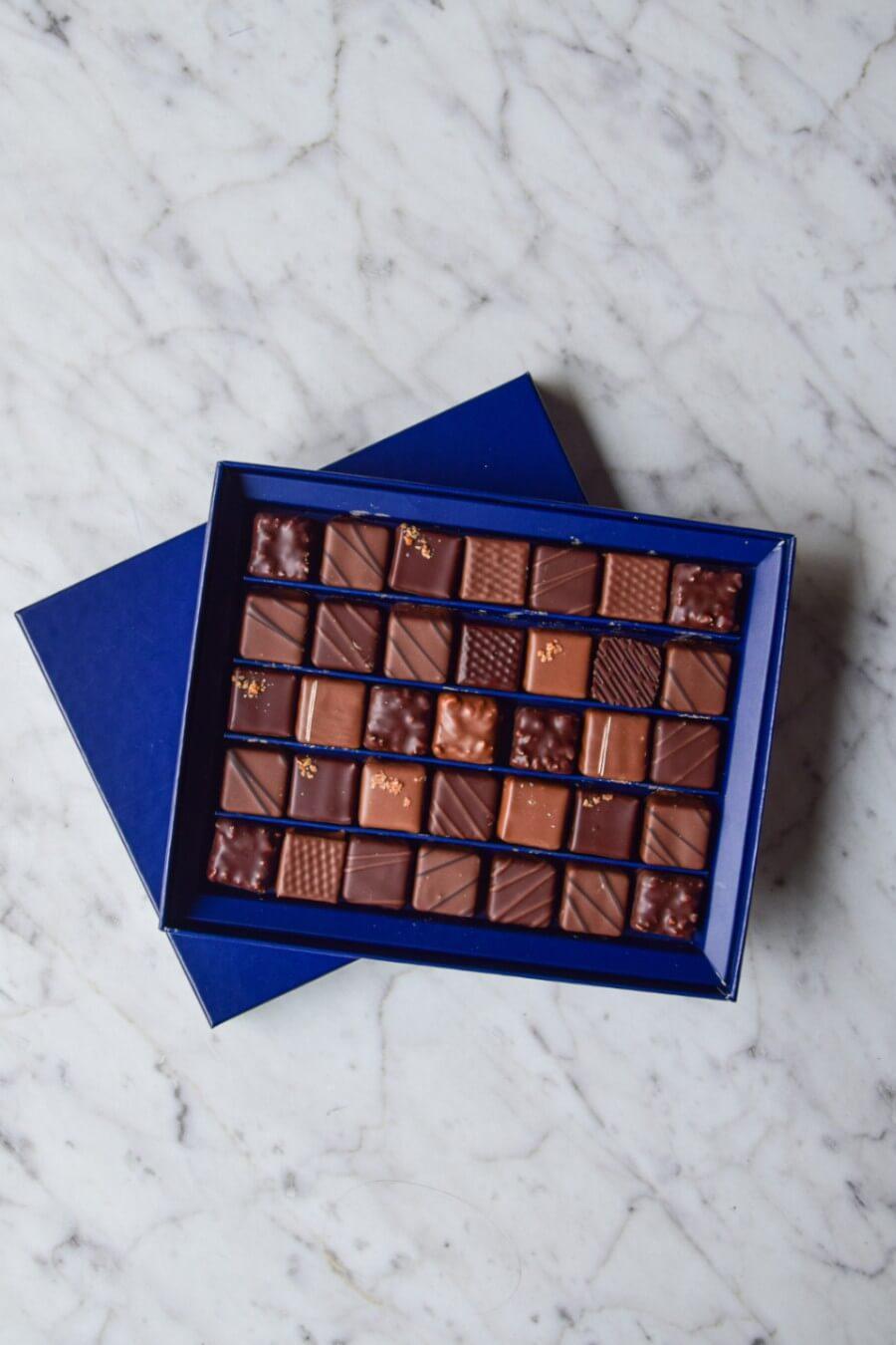 Écrins de 35 chocolats