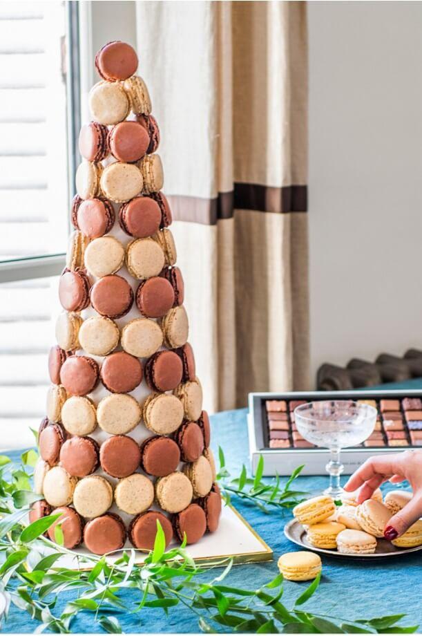 Cône de macarons