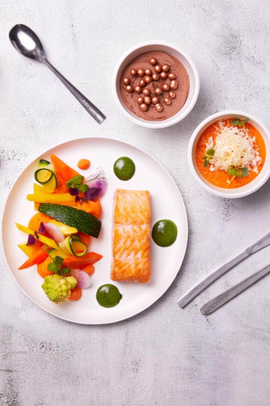 Plateaux-repas madeleine