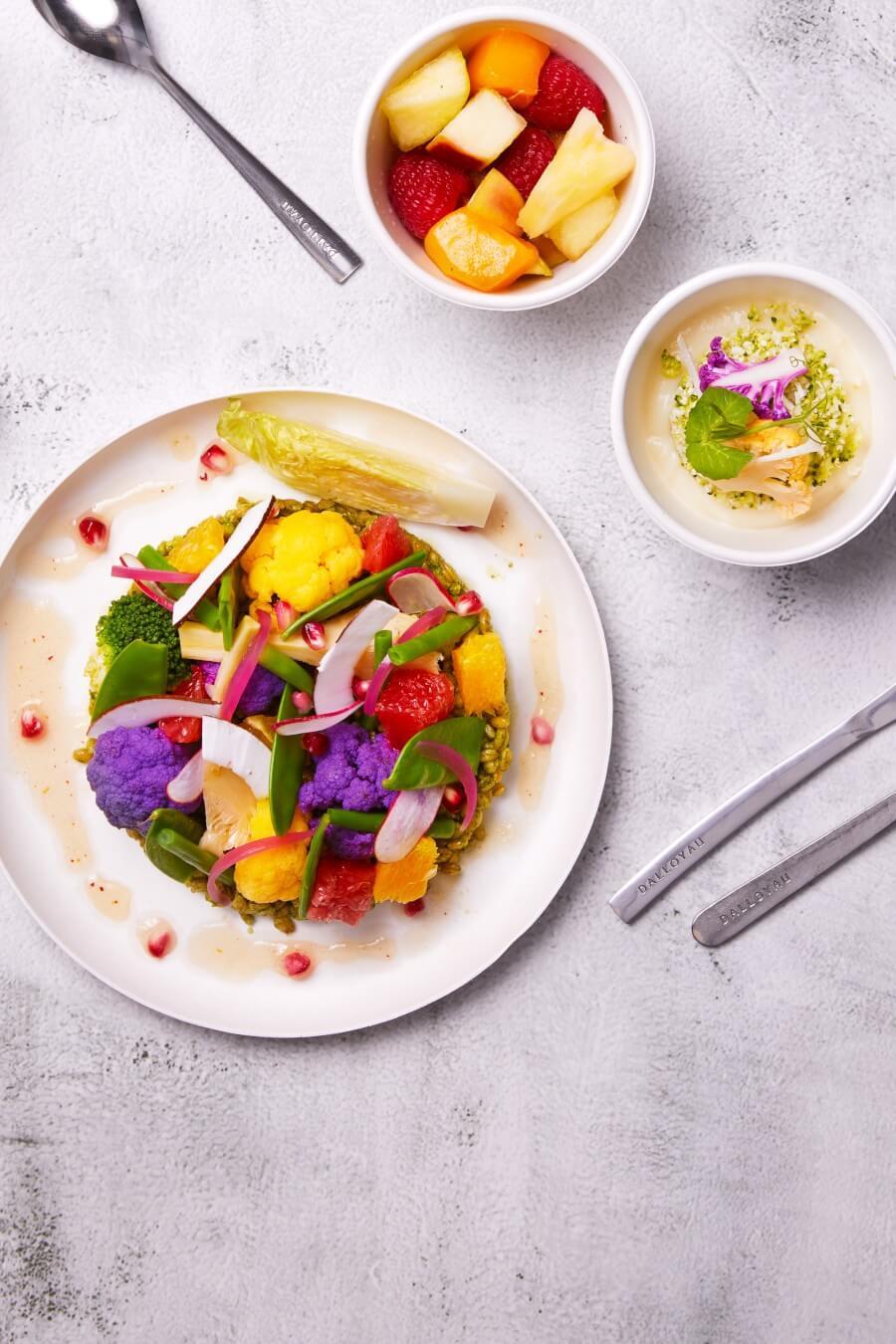Plateau-repas monceau végétarien