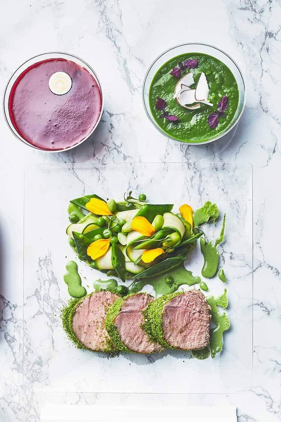 Plateau-repas viande rouge