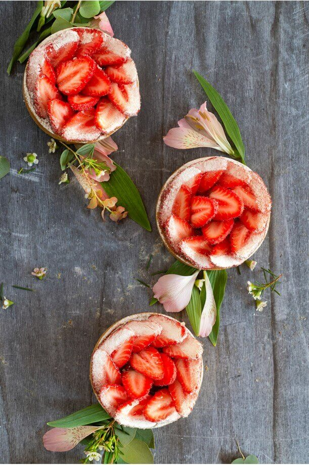 Tarte aux fraises fraiches