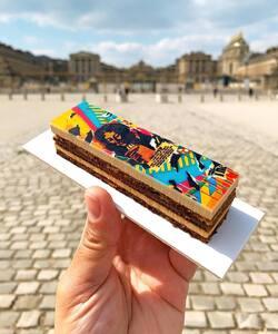 Une jolie photo, pleine d'histoires, par @michel.trn pour marquer la fin de notre collaboration avec le Street Artist @jodibona 😇  Merci à tous pour vos retours, nous avons hâte de vous présenter nos nouvelles collaborations 😁  #dalloyau #dalloyauparis #paris #collaboration #pastry #cheflife #foodlover
